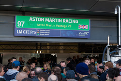 Fans at the Aston Martin garage