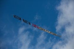 Banner celebrating Aston Martin's 100th