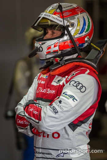 Tom Kristensen ready to get in the #2 Audi