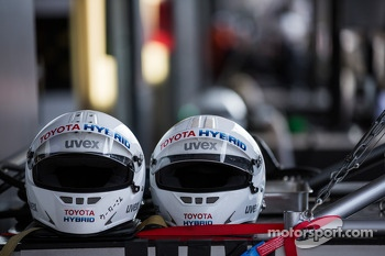 Toyota pit crew helmets