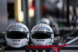 Toyota pit crew helmets