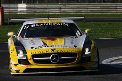 #19 Black Falcon Mercedes SLS AMG GT3: Oliver Morley, Robert Hissom, Andreii Lebed