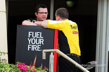 (L to R): Eric Boullier, Lotus F1 Team Principal with Rob White, Renault Sport Deputy Managing Director
