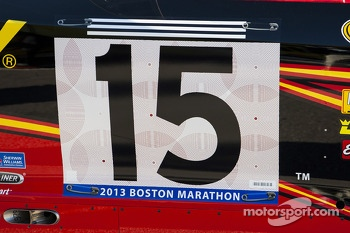 Clint Bowyer, Michael Waltrip Racing Toyota honors those killed in the Boston Marathon bombing