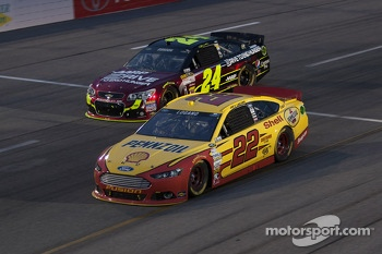 Joey Logano and Jeff Gordon