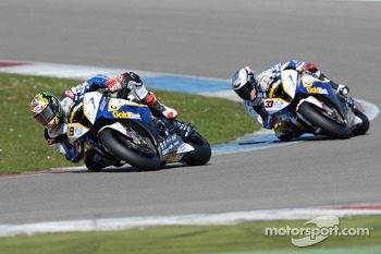 Chaz Davies and Marco Melandri