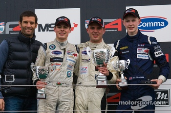 Podium From left: Mark Webber, Seb Morris, Jake Dalton and Matthew Graham