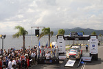 Podium: winners Sbastien Loeb and Daniel Elena, Citron DS3 WRC, Citron Total Abu Dhabi World Rally Team, second place Sbastien Ogier and Julien Ingrassia, Volkswagen Polo WRC, Volkswagen Motorsport, third place Jari-Matti Latvala and Miikka Anttila