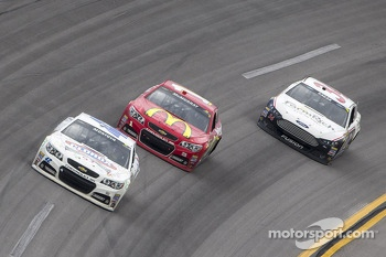 Juan Pablo Montoya, Jamie McMurray and David Ragan