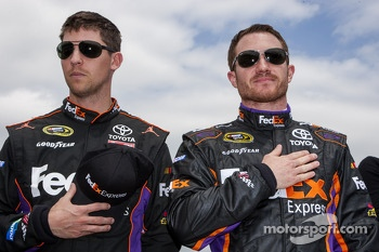 Denny Hamlin, Joe Gibbs Racing Toyota and Brian Vickers, Joe Gibbs Racing Toyota