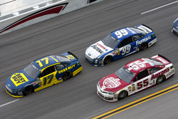 Ricky Stenhouse Jr., Carl Edwards and Michael Waltrip