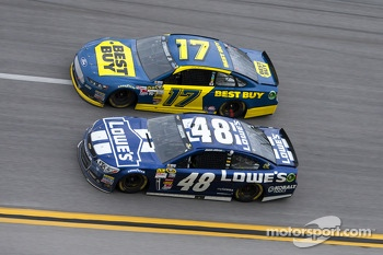 Jimmie Johnson and Ricky Stenhouse Jr.