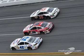 Juan Pablo Montoya, Dave Blaney and Josh Wise
