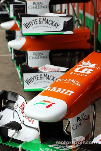 Sahara Force India F1 nosecones