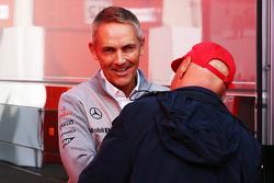 Martin Whitmarsh, McLaren Chief Executive Officer with Niki Lauda, Mercedes Non-Executive Chairman