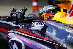 Sebastian Vettel, Red Bull Racing RB9 in parc ferme
