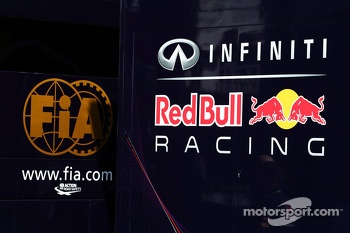 FIA and Red Bull Racing logos