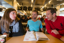 Cyndie Allemann, Sven Hannawald and Thorsten Drewes