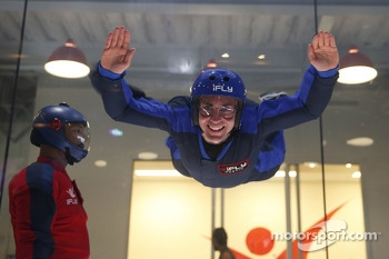 Tony D'Alberto flies at the iFly Center