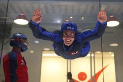 Tony D'Alberto flies at the iFly Center