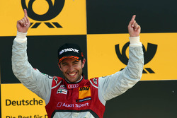 Podium: race winner Mike Rockenfeller, Audi Sport Team Phoenix Audi RS 5 DTM