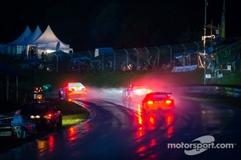 Race action under a heavy rain