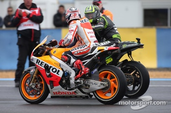 Marc Marquez, Repsol Honda Team and Cal Crutchlow, Monster Yamaha Tech 3