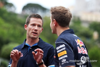 Sebastian Vettel, Red Bull Racing with Sébastien Ogier, Rally Driver