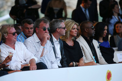 Jeremy Clarkson, with Eddie Irvine, at the Amber Lounge Fashion Show
