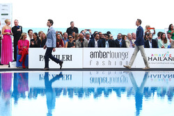 Jules Bianchi, Marussia F1 Team and Max Chilton, Marussia F1 Team at the Amber Lounge Fashion Show