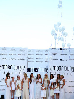 Wives and girlfriends at the Amber Lounge Fashion Show