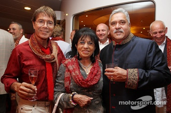 Sir Cliff Richard, Pop Star, with Dr. Vijay Mallya, Sahara Force India F1 Team Owner at the Signature F1 Monaco Party