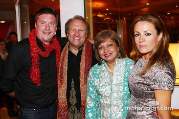 (L to R): David Croft, Sky Sports Commentator with Bob Fernley, Sahara Force India F1 Team Deputy Team Principal and Natalie Pinkham, Sky Sports Presenter, at the Signature F1 Monaco Party