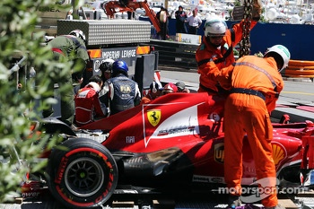 Felipe Massa, Ferrari crashes at Ste Devote