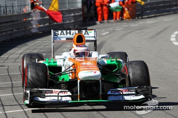 Paul di Resta, Sahara Force India VJM06 at the end of the race