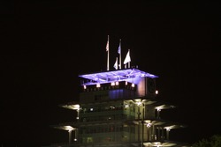 The Pagoda before sunrise on race morning