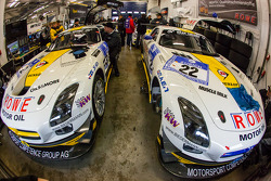 Rowe Racing Mercedes-Benz SLS AMG GT3 cars