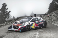 The Peugeot 208 T16 Pikes Peak on the Mont Ventoux