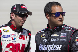 Juan Pablo Montoya and Greg Biffle