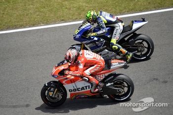 Nicky Hayden, Ducati Team and Valentino Rossi, Yamaha Factory Racing