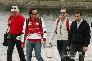 Felipe Massa, Ferrari with brother Dudu and Nicolas Todt, Driver Manager