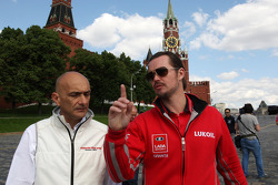 Press conference, Gabriele Tarquini, Honda Civic, Honda Racing Team J.A.S.  and  James Thompson, Lada Granta, LADA Sport Lukoil
