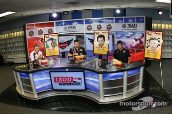 Mario, Michael and Marco Andretti in a sub eating contest