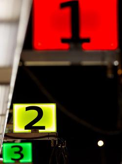 Audi pit stall numbers at La Sarthe