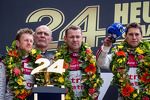 LMP1 podium: class and overall winners Tom Kristensen, Allan McNish, Loic Duval with Dr. Wolfgang Ullrich