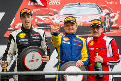 Podium: race winner Sergey Chukanov, second place Alexander Martin, third place Benedetto Marti
