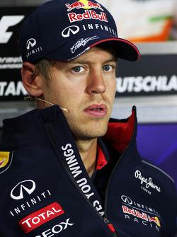 Sebastian Vettel, Red Bull Racing ion the FIA Press Conference