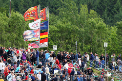 Fans with Michael Schumacher flags