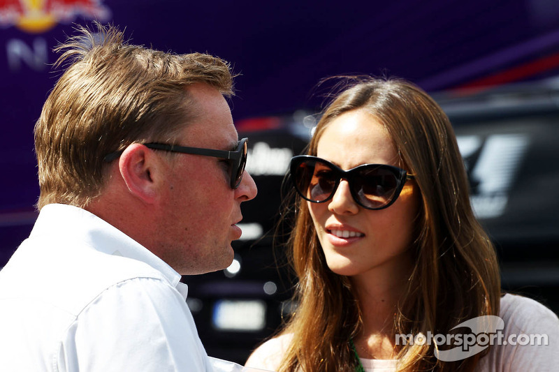 Jessica Michibata, girlfriend of Jenson Button, McLaren