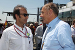 (L to R): Emanuele Pirro, FIA Steward with Hans-Joachim Stuck, on the grid